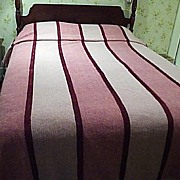 Vintage, Shades of Pink, Polyester, Short, Chenille Bed Spread
