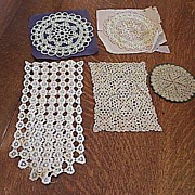 Vintage Handmade Crocheted or Tatted Doilies