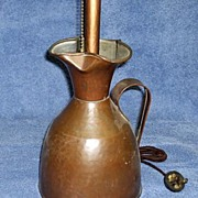 Hand Hammered Copper Pitcher Lamp