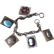 Unique Vintage Locket Charm Bracelet