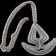 Signed Vintage CORO Modernist  Pendant Necklace