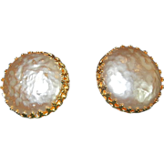 Signed Miriam Haskell Earrings