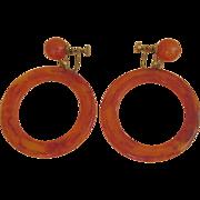 Huge Bakelite Hoop Earrings