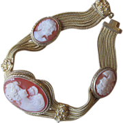 Magnificent Cameo Sterling Bracelet