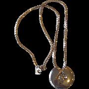 Pierre Cardin- Logo Gold Tone Necklace