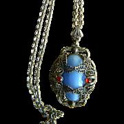 Unique Vintage Signed Pendant Necklace