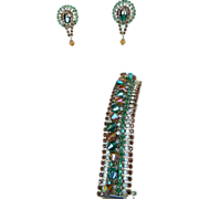 HOBE- vintage signed earrings and bracelet