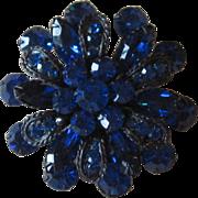 Stunning Blue Vintage Brooch