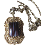 Haskell- Huge Pendant Runway Vintage Necklace