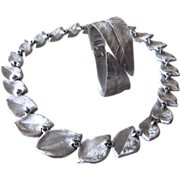 Crown Trifari - Stunning Cuff Bracelet and Necklace