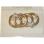 Courreges Paris Unworn Old Stock Brooch