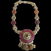 Signed Vintage Craft Necklace