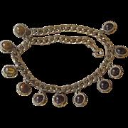 Chunky Vintage Bold Glass Vintage  Necklace
