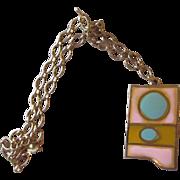 Accessocraft- Vintage Pastel Pendant Necklace