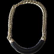 Monet-  Vintage Mod Retro Signed Necklace