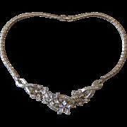 Trifari- Older Vintage Rhinestone Necklace