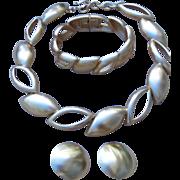 Monet- Elegant and Sleek Necklace, Bracelet and Earrings Set