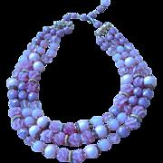Caviness- Signed Multi- strand Vintage Necklace