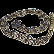 Extraordinary Rhinestone  Runway Vintage Belt or Necklace