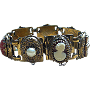 Victorian Revival Chunky Ornate Panel Bracelet
