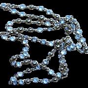 50 Inch  Crystal Vintage Sautoir Necklace
