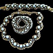 Florenza- Rare Parure Signed Vintage Faux Pearl