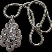 Trifari Vintage Signed Status Pendant Necklace