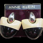 Anne Klein Vintage Couture Pierced Earrings