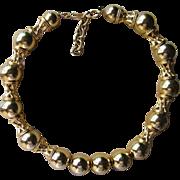 Monet Vintage Unique Shiny Gold Tone Runway Necklace