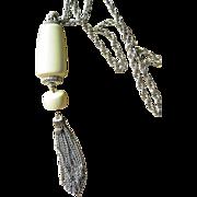 Trifari Signed Huge Pendant Vintage Necklace