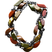 Bakelite Station Vintage Necklace  60 inch Sautoir