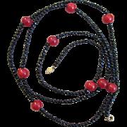 Accessocraft 60 inch Signed Vintage Sautoir Necklace
