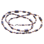 Purples- Czech Beads Vintage 40 inch Sautoir