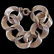 Modernist Gold Filled Vintage Bracelet