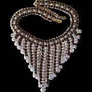 Amazing Runway Rhinestone Vintage Bib Huge Necklace