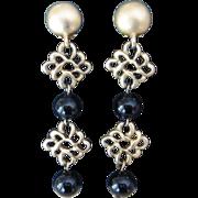 Donna Karan DKNY Long Vintage Earrings