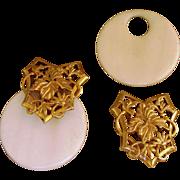 Stephen Dweck Faux Ivory Vintage Sterling Designer Runway  Earrings