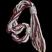 Celia Sebiri Huge 9 Inch Tassel Vintage Beaded  Necklace