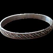 Sterling Silver Vintage Bangle Bracelet