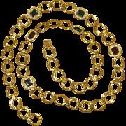 32 Inches Vintage Rhinestone Station Elegant Sautoir Necklace