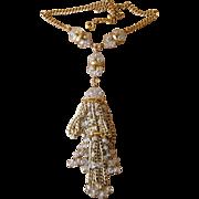 Super Large Runway Tassel Vintage Necklace
