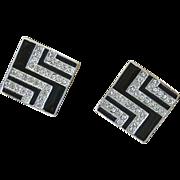 Joseph Mazer Signed Vintage Designer Earrings