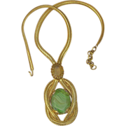 Schreiner Huge Extraordinary Signed Vintage 4 Inch Pendant Necklace