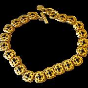 Anne Klein Vintage Signed Sleek and Elegant Necklace