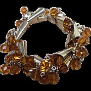 Amazing Rhinestone and Crystal Vintage Chunky Bracelet