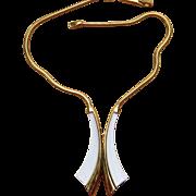 TRIFARI Mod and Sleek Large Vintage Signed Necklace