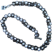 Ozazu Vintage Chunky Swarovski  Crystal Signed Couture Necklace