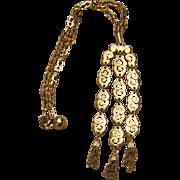 Crown Trifari Fabulous Signed Pendant Necklace