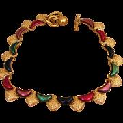 Anne Klein Vintage Elegant Enamel Signed Necklace