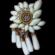 Stunning Vintage Designer Unique Brooch